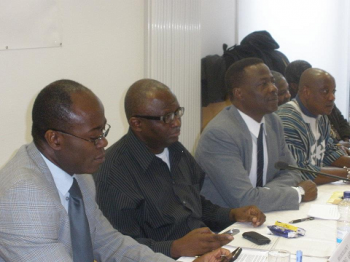 Ambassador Paul King Aryene at a UGAG meeting